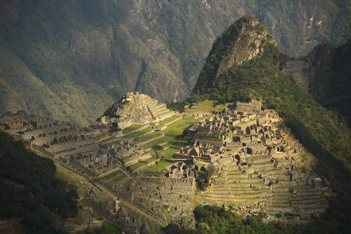 Machu Picchu view. South America motorcycle trip with Advfactory