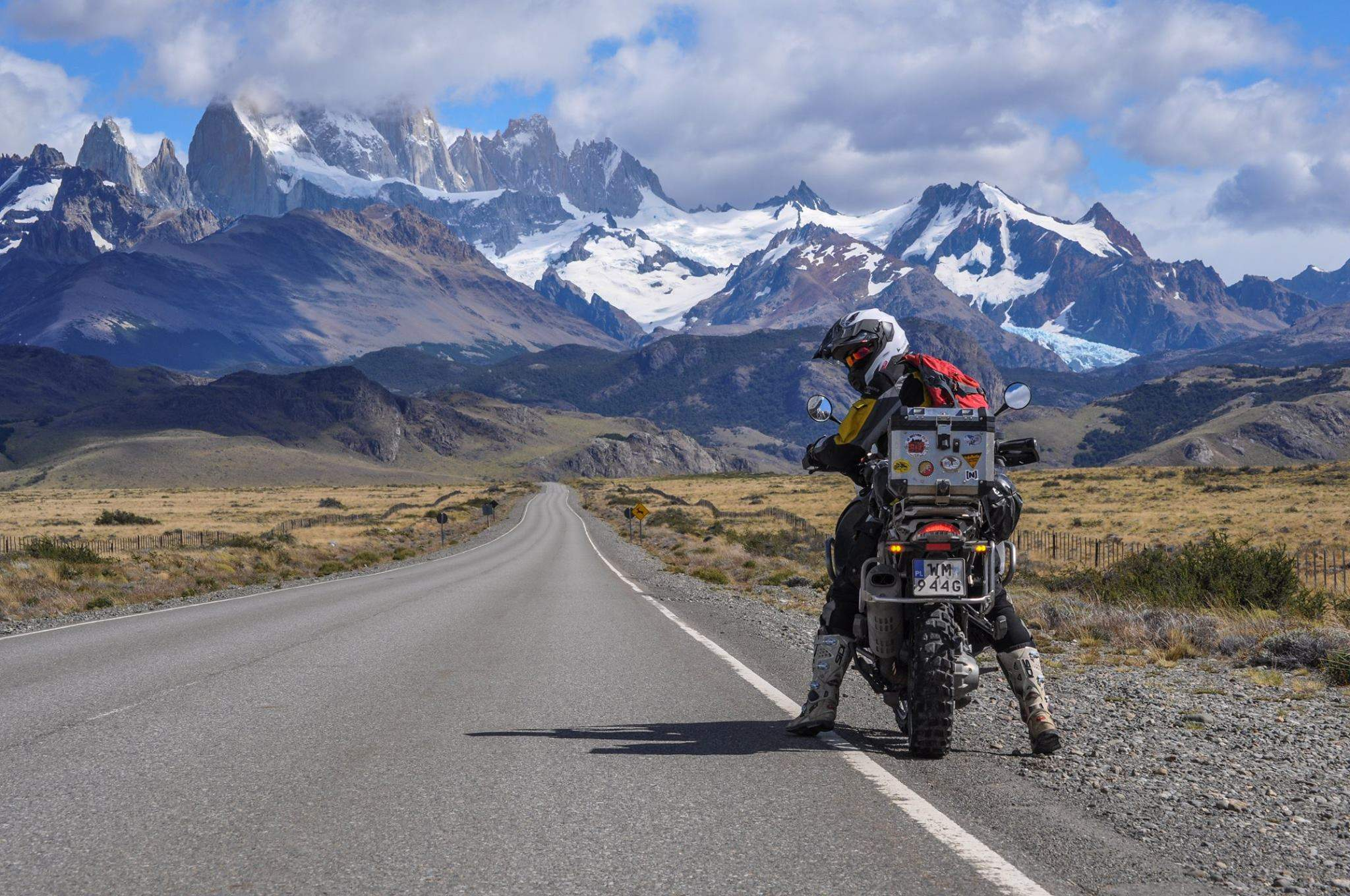 Fitz Roy view. Patagonia motorcycle trip with Advfactory