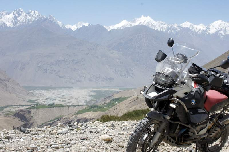 BMW R1200 GS on the Silk Road. Silk Road motorcycle trip with Advfactory